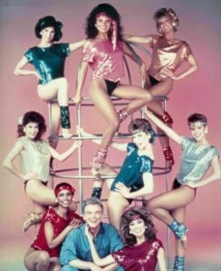 Tori (top center) with Teri Hatcher (left) 1985