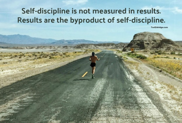 self discipline and the road
